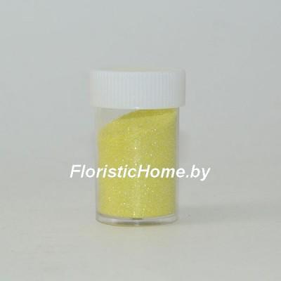 БЛЕСТКИ В тубе 12-16 гр. перламутровые, мелкой фракции, бледно-желтый,