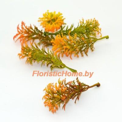 ВЕТКА Декоративная листва, Пластик, L 8 см, осенняя палитра