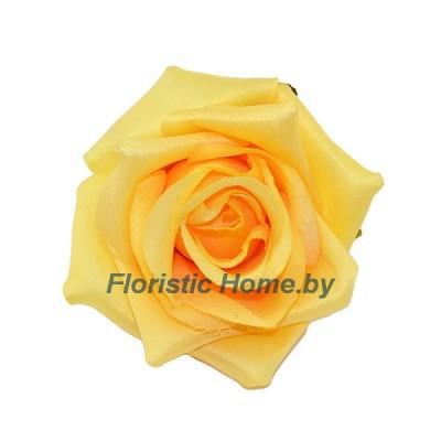 ГОЛОВКИ ЦВЕТОВ Роза, d 10 см x L 7 см, светло-абрикосовый