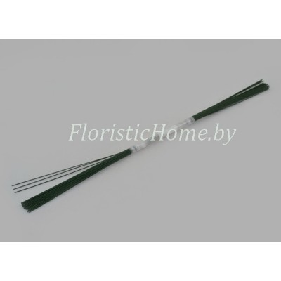 ПРОВОЛОКА , герберная 50 шт., d 0.9 мм х L 40 см , , зеленый