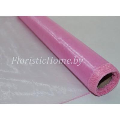 ОРГАНЗА , h 38 см х 8 м, розово-лиловый