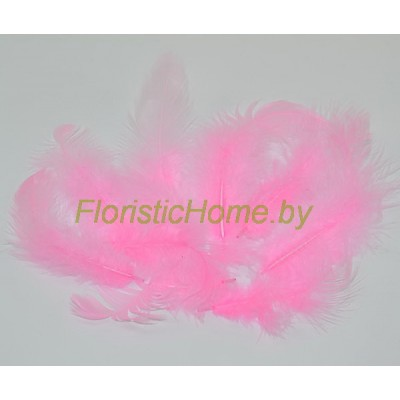 Перья пушистые в пакете 20 шт, L 3-13 см, , розовый