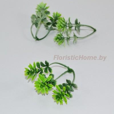 ВЕТКА Очиток мелкий, Пластик, L 6,5 см, светло-зеленый