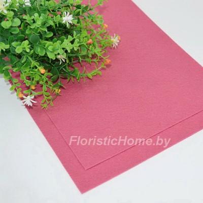 ФЕТР мягкий 1 мм, L 20 см х h 30 см, кораллово-розовый