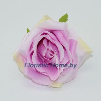 ГОЛОВКИ ЦВЕТОВ Роза, d 10 см x L 7 см, лавандово-розовый