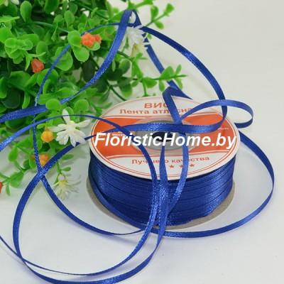 ЛЕНТА атласная, h 0,3 см х 1 м, светло-синий