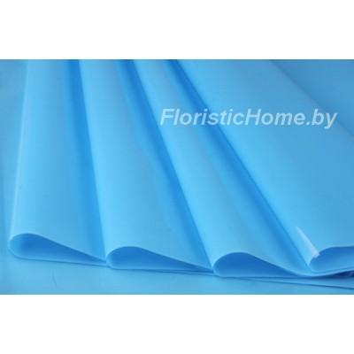 ПЛЕНКА в рулоне двухсторонняя матовая/глянцевая, h 70 см х 10 м, голубой