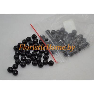 БУСИНКА, круглая, d 1 см, 20 гр., черный