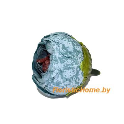 ГОЛОВКИ ЦВЕТОВ Камелия , d 4 см, темно-мятный