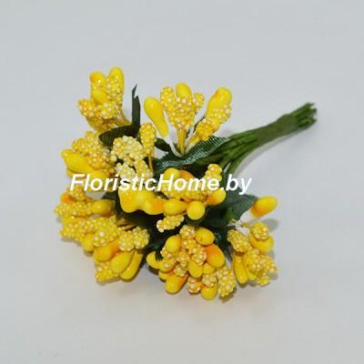 Тычинки 10 -12 шт. , d 2,5 см, желтый