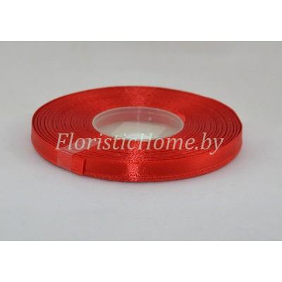 ЛЕНТА атласная, h 0,6 см х 1 м, красный