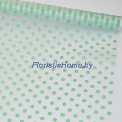 ПЛЕНКА в рулоне матовая Бисер, h 70 см х 10 м, зеленая мята