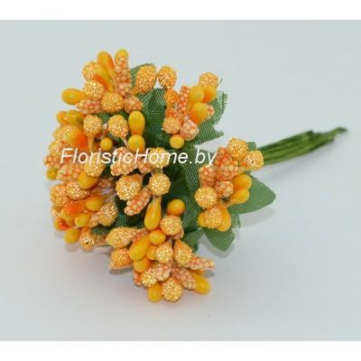 Тычинки 10 -12 шт. засахаренные, d 2,3 см, светло-абрикосовый