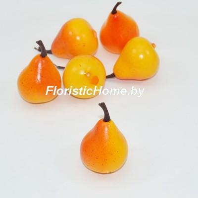 Груша, d 3,5 см, оранжевый-красный