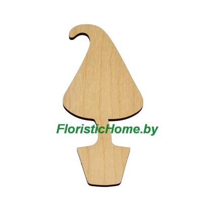 """ЗАГОТОВКА для топиария """"Конус - удлиненный"""", 15 см, дерево"""