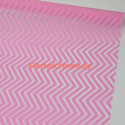 ПЛЕНКА в рулоне матовая Зигзаг, h 70 см х 10 м, розовый