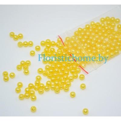 """БУСИНКА, """"под жемчуг"""" круглая, d 0,4 см, 20 гр., желтый"""