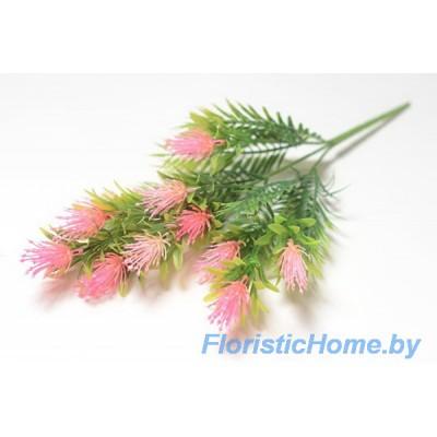 ВЕТКА Куст альбиции, Пластик, L 48 см, зеленый-ярко-розовый