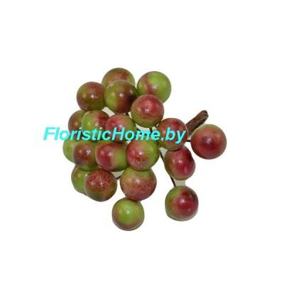 Тычинки 20 шт., d 1,2 см, зеленый-красный