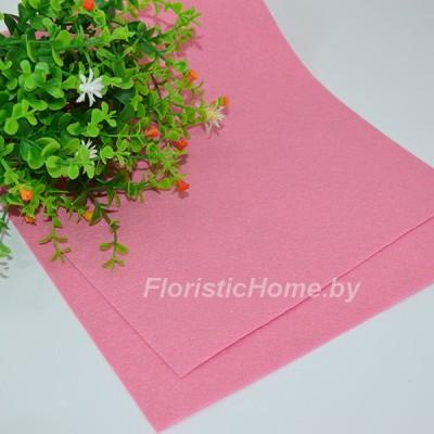 ФЕТР жёсткий 1 мм , L 20 см х h 30 см, глубокий холодный розовый