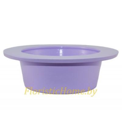 КАШПО Тарелка круглая, d 20 см х h 7 см, сиреневый