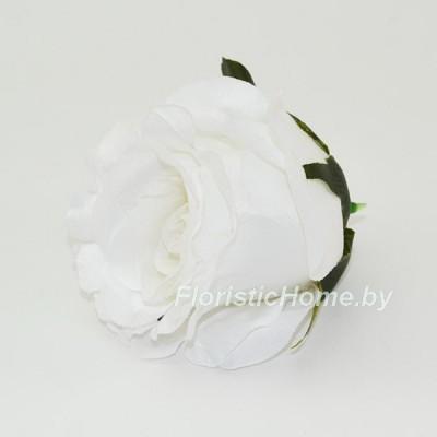 ГОЛОВКИ ЦВЕТОВ Роза бутон, d 6 см x L 6,5 см, белый