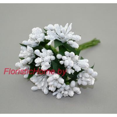 Тычинки 10 -12 шт. , d 2,5 см, белый