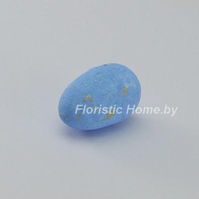 ДЕКОР  Яйцо 1 шт, пенопласт в крапинку, L 3 см, голубой,