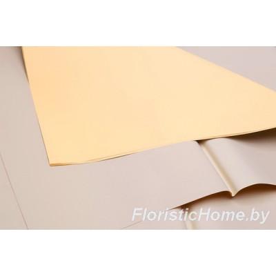 ПЛЕНКА матовая двухсторонняя 1 лист , h 60 см х L 60 см, песочно-персиковый-темно-бежевый