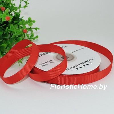 ЛЕНТА репсовая, h 1,2 см х 1 м, красно-алый