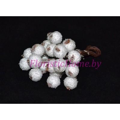 Клюква в сахаре на проволоке 20 ягод ., d 1,2 см, белый