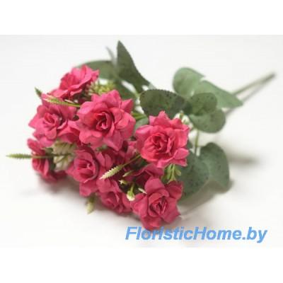 """БУКЕТ ЦВЕТОВ Роза """"ландора"""", h 27 см, пурпурно-малиновый"""