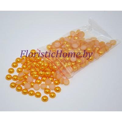 ПОЛУБУСИНА под жемчуг, d 0,4 см, абрикосовый, 20 гр.