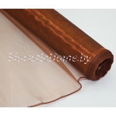 ОРГАНЗА , h 38 см х 1 м, коричнево-медный