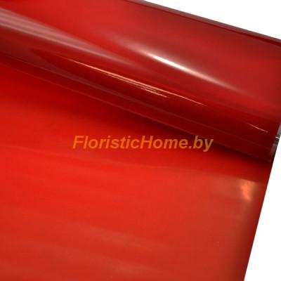 ПЛЕНКА в рулоне двухсторонняя матовая/глянцевая, h 70 см х 10 м, красный