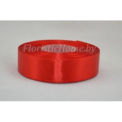 ЛЕНТА атласная, h 2,5 см х 1 м, красный