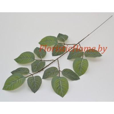 ЛИСТВА Розы, Ткань, L 47 см, зеленый матовый