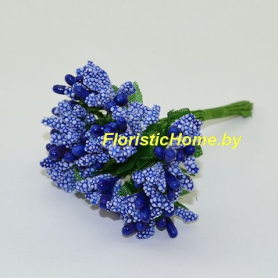 Тычинки 10 -12 шт. , d 2,5 см, синий
