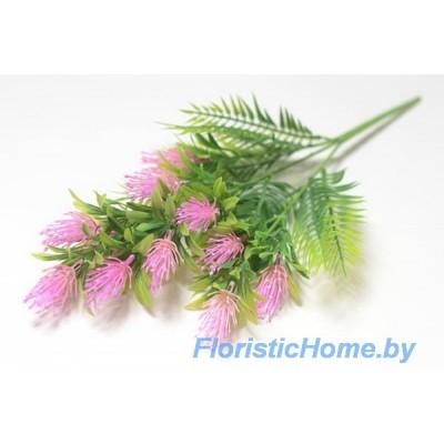 ВЕТКА Куст альбиции, Пластик, L 48 см, зеленый-светло-пурпурный