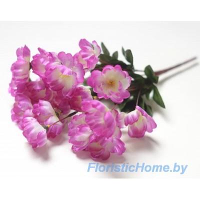 БУКЕТ ЦВЕТОВ Сакура, h 33 см, ярко-пурпурно-фиолетовый