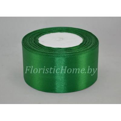 ЛЕНТА атласная, h 5 см х 27 м, зеленый