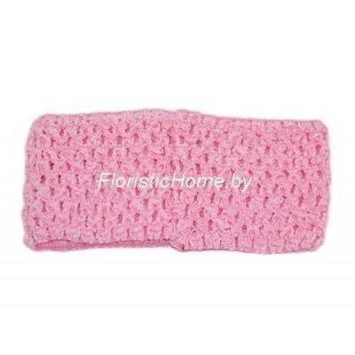 ПОВЯЗКА-РЕЗИНКА , d 6,7 см , холодный розовый