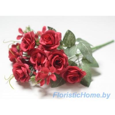 БУКЕТ ЦВЕТОВ Розы, h 29 см, винный