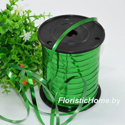 ЛЕНТА ПОЛИПРОПИЛЕНОВАЯ металлик, h 0,5 см х 1 м, зеленый