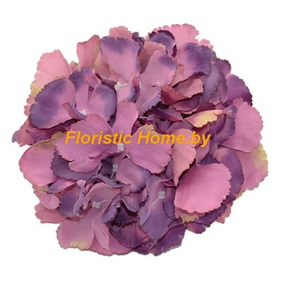 ГОЛОВКИ ЦВЕТОВ Гортензия резная , d 18 см х L 10 см, фиолетовый-лиловый