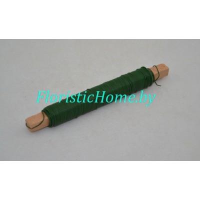 ПРОВОЛОКА на шпульке, d 1,0 мм, 100 гр., зеленый
