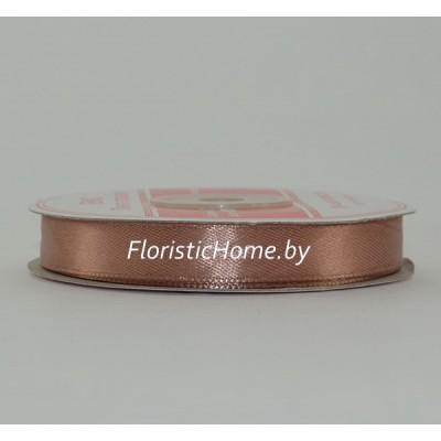 ЛЕНТА атласная, h 1.2 см х L 1 м, кофейно-розовый
