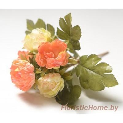 БУКЕТ ЦВЕТОВ Роза пионовидная махровая, h 29 см, лососево-персиковый