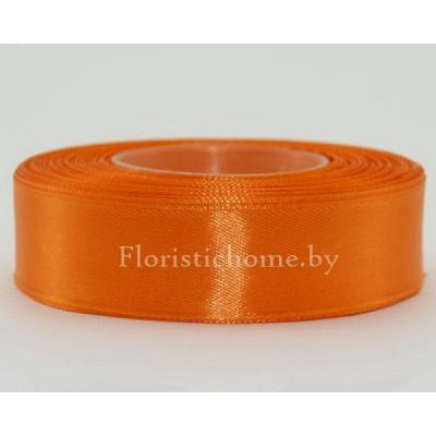ЛЕНТА атласная, h 2,5 см х 27 м, оранжевый