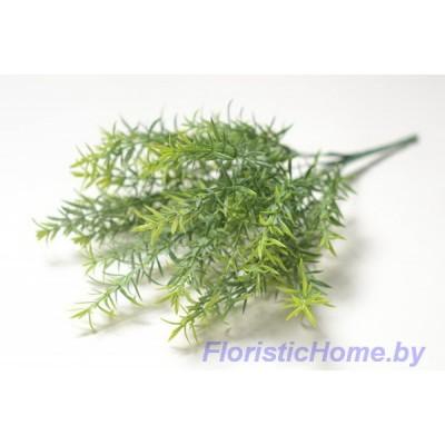 ВЕТКА Куст с заостренной листвой, Пластик, L 41 см, зеленый-салатовый